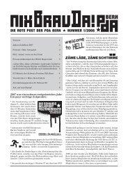 DIE ROTE POST DER PDA BERN NUMMER 1/2008