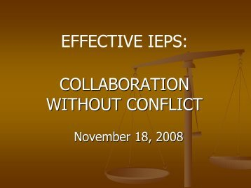 Collaboration Without Conflict - Tustin Unified School District