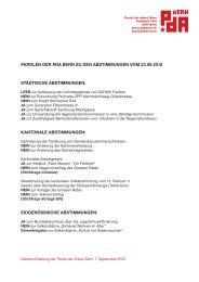 kantonale abstimmungen - Partei der Arbeit Bern