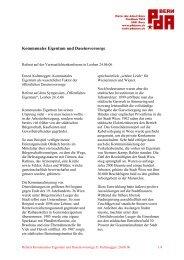 Kommunales Eigentum und Daseinsvorsorge - PdA Bern