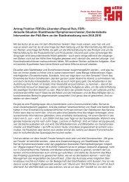 Antrag Fraktion FDP.Die Liberalen (Pascal Rub, FDP ... - PdA Bern