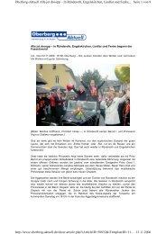 Artikel Oberberg Aktuell vom 11.11.06 - Engelskirchener Dreigestirn