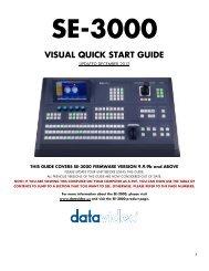 SE-3000 Quick Start Guide - Datavideo