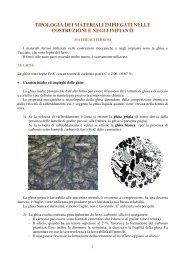 Impieghi dei materiali: ghise e acciai - ITIS G. Galilei