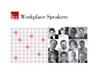 Workplace Speakers - The London Institute for Contemporary ...