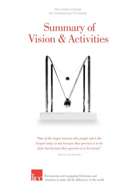 Vision & Activities booklet - The London Institute for Contemporary ...