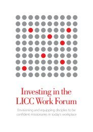 Investing in the LICC Work Forum - The London Institute for ...