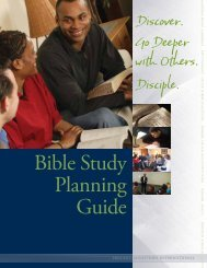 Bible Study Planning Guide