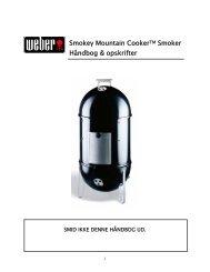 Smokey Mountain CookerTM Smoker HÃ¥ndbog ... - Weber Grills
