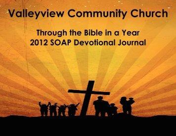 Scripture - Valleyview Community Church