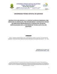 Reglamento para contratación de personal por servicios ... - Uteq