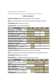 Planes y programas en ejecución CPEI - Uteq