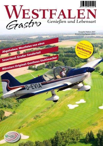 Herbstausgabe 2007 (pdf) - Westfalen Gastro