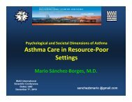 Asthma care in resource-poor settings - World Allergy Organization