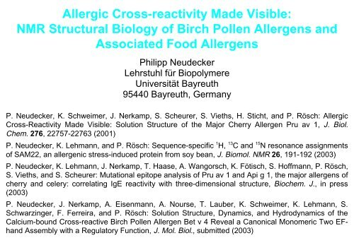 Allergic Cross-reactivity Made Visible: NMR Structural