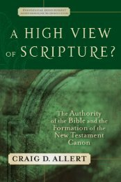 A High View of Scripture - Baker Publishing Group