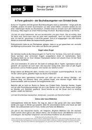Neugier genügt, 03.08.2012 Service Garten - WDR 5