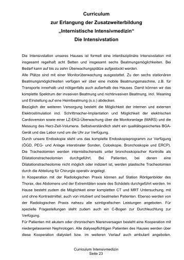 """Internistische Intensivmedizin"" Die Intensivstation - Stiftung ..."