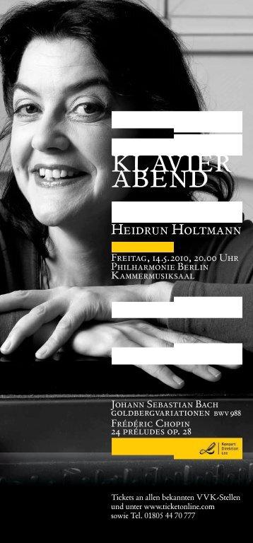 klavier abend - Menzeldorf.nbhs.de