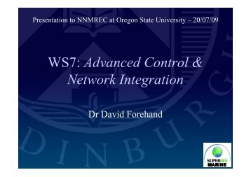 Advanced Control & Network Integration - Oregon State University