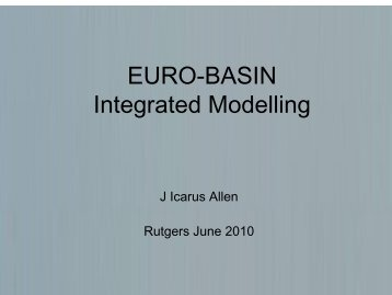 WP6: Integrated Modelling - BASIN