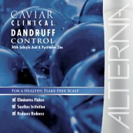 caviar clinical dandruff control - Alterna