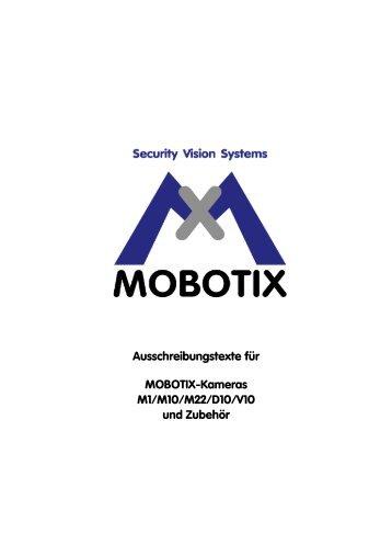 Ausschreibungstexte für MOBOTIX-Kameras M1/M10/M22/D10/V10 ...