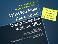 USG 10.15.2012 PDF - Georgia Tech Procurement Assistance Center