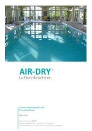 Technische Daten Baureihe i 19.06.2012 - AIR-DRY Luftentfeuchter