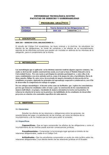 Derecho Civil Obligaciones II