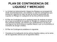 PLAN DE CONTINGENCIA DE MERCADO