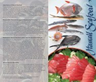 Download Species Pamphlet - Hawaii Seafood