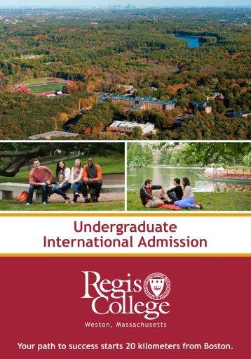 Undergraduate International Admission - Regis College