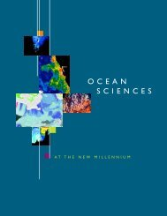 Ocean Sciences at the New Millennium - University of Washington