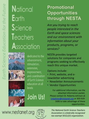Media Kit - National Earth Science Teachers Association