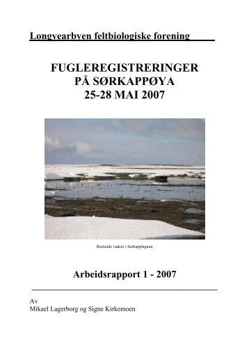 Sørkapp vår 2007 - Longyearbyen Feltbiologiske Forening