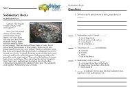 sedimentary rock reading