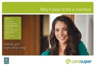 making your super choice easy - CareSuper