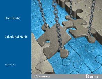 User Guide Calculated Fields - Oceanwide.com