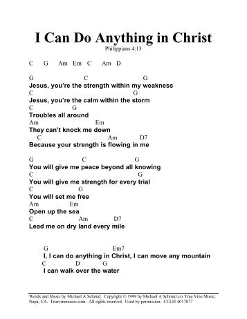 I Can Do Anything in Christ - Christian music 4 Praise And Worship