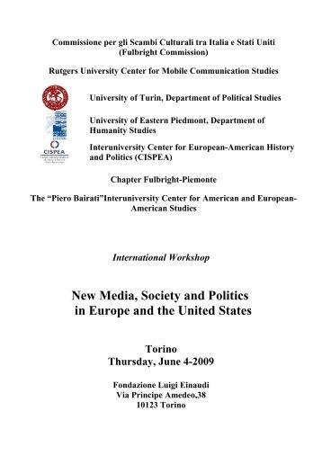 New Media, Society and Politics in Europe and the United ... - aisna