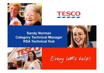 Sandy Norman Category Technical Manager RSA Technical Hub