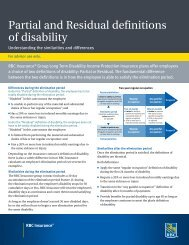 Partial and Residual definitions of disability - RBC Insurance