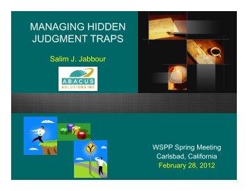 General Session - S. Jabbour Presentation - WSPP