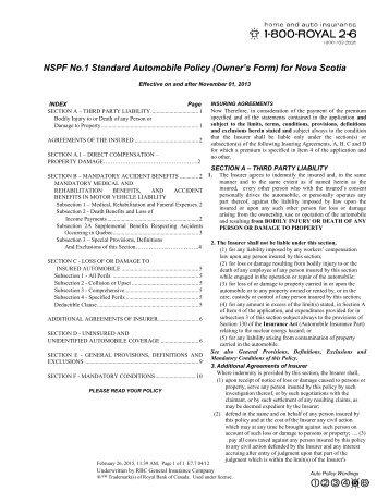 NSPF No. 1 - RBC Insurance