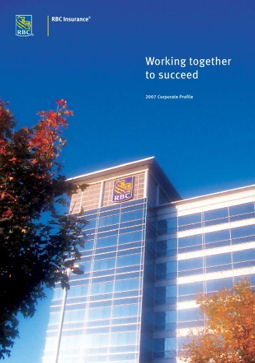 Working together to succeed - RBC Insurance