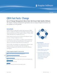 QRA Fast Facts: Change - Seapine Software, Inc.
