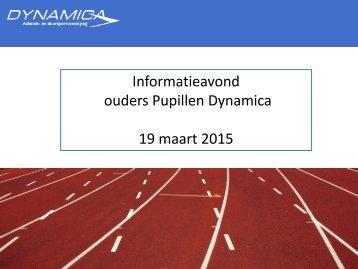 Infoavond Dynamica 19 maart 2015
