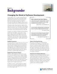 Changing the World of Software Development - Seapine Software