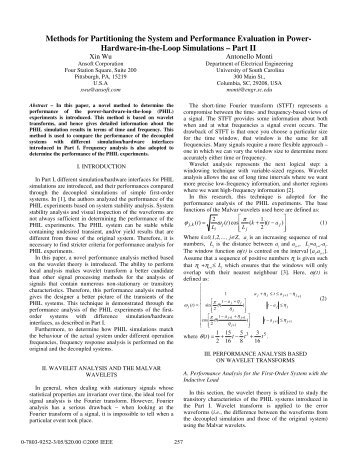 Methods for Partitioning the System and Performance ... - IEEE Xplore